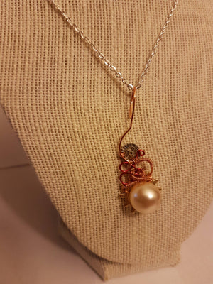 Wire Wrapped Steampunk Necklace