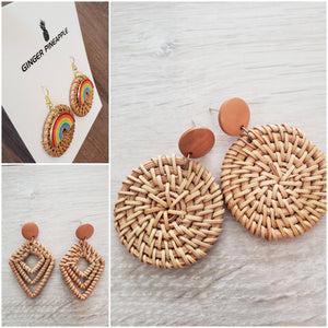 Wicker earrings