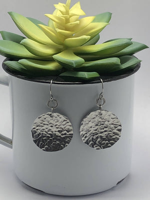 Circle Aluminium Earrings/by Simply de novo Creations