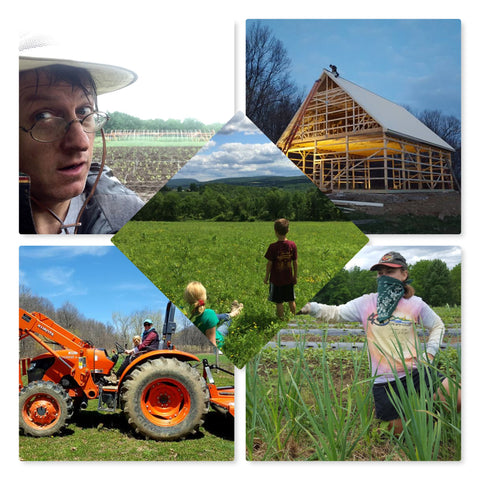 A photo collage of Gene Olczak's farm