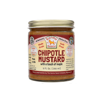 Chipotle Mustard Jar Front Side View