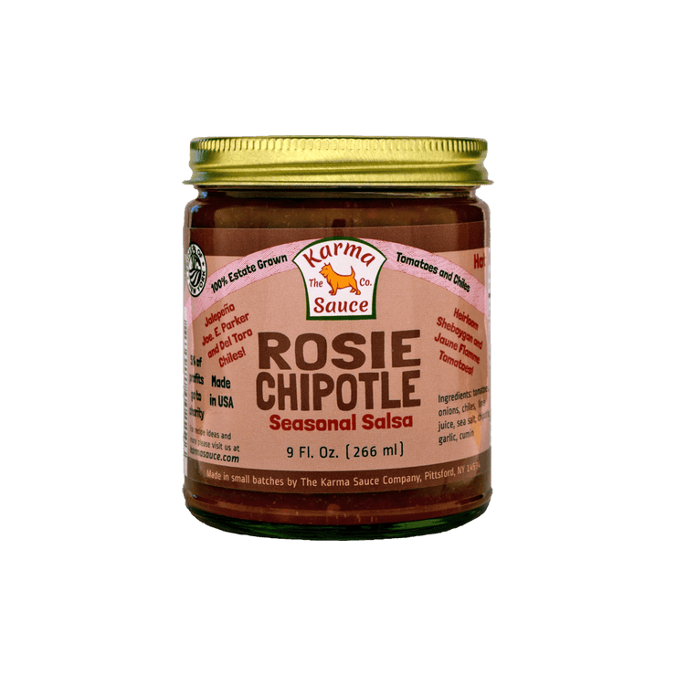 Rosie Chipotle Salsa Jar Front Side View