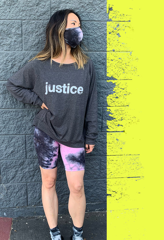 JUSTICE TOP WITH TIE DYE BIKER SHORTS