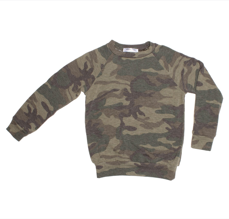 Unisex Top - Alfie Camo | Adult | Olive - Joah Love