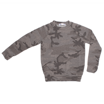 Unisex Top - Alfie | Camo | Grey - Joah Love
