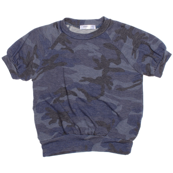 Girl's Top - Koko | Camo | Blue - Joah Love