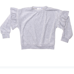 GIRLS KNIT TOP - Rayne-V | Heather - Joah Love