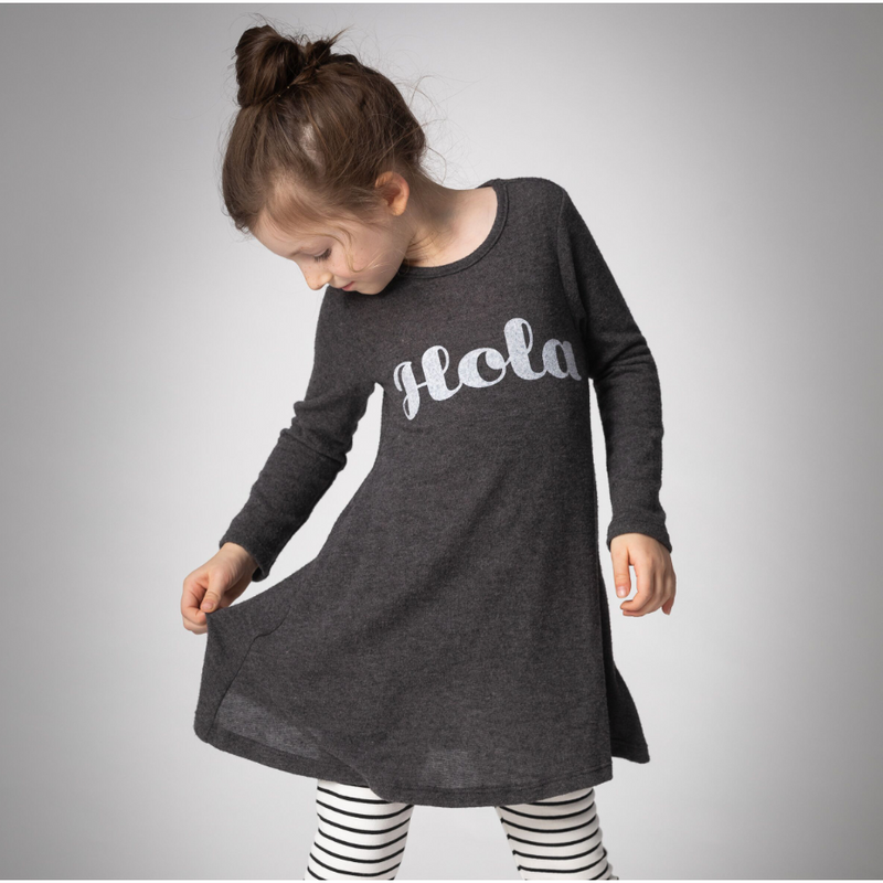 GIRLS KNIT TOP - Sisley | FC | Charcoal - Joah Love