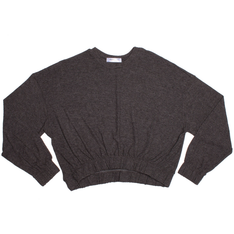 ADULT KNIT TOP - Amari | Adult | Charcoal - Joah Love
