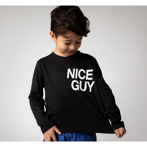 Boy's Tops - Maddox | Nice Guy | Black - Joah Love