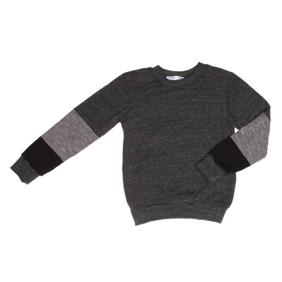 UNISEX KNIT TOP - Leo | RIB | Charcoal - Joah Love