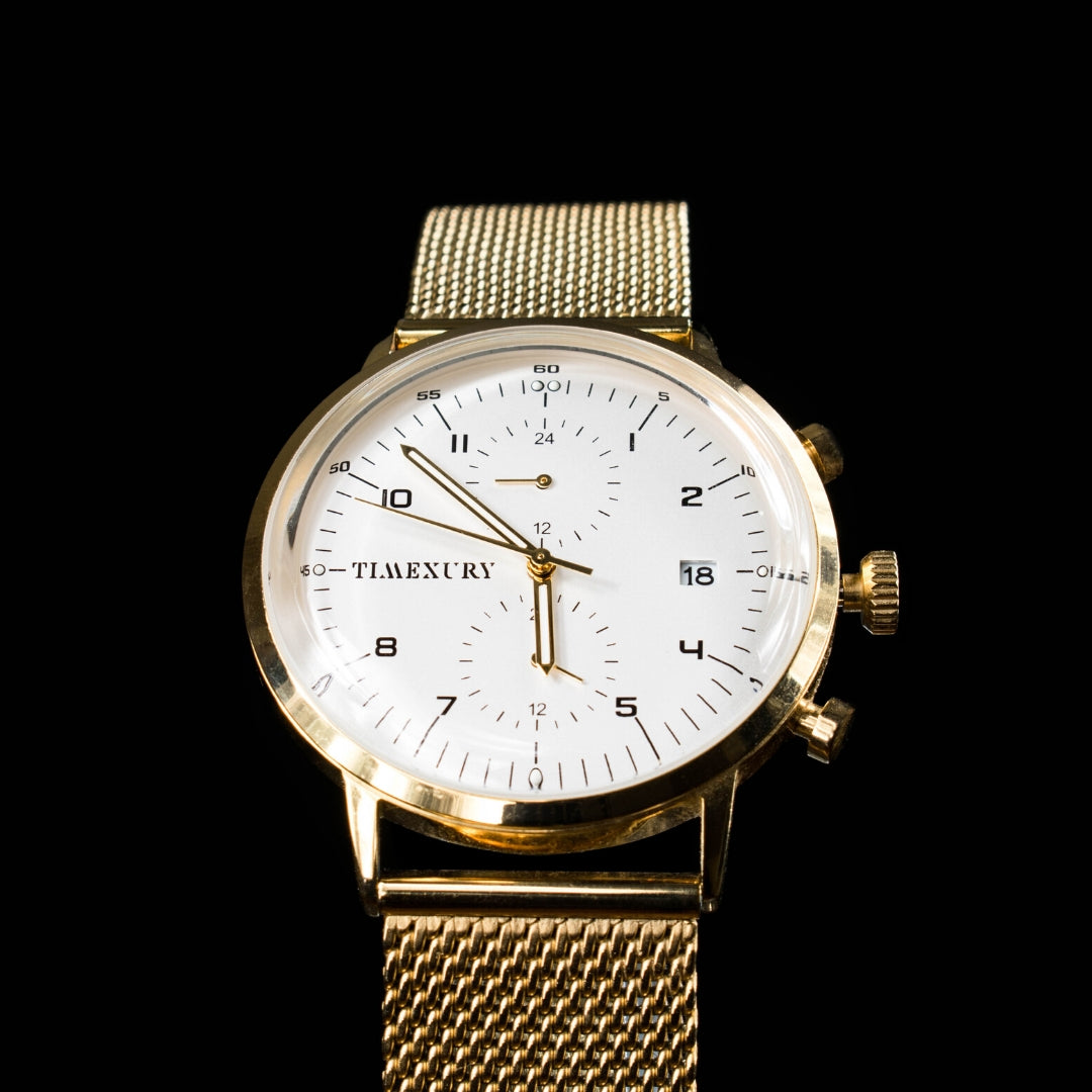 Gold & White Chronos
