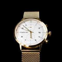Gold & White Chronos - TimexuryWatches