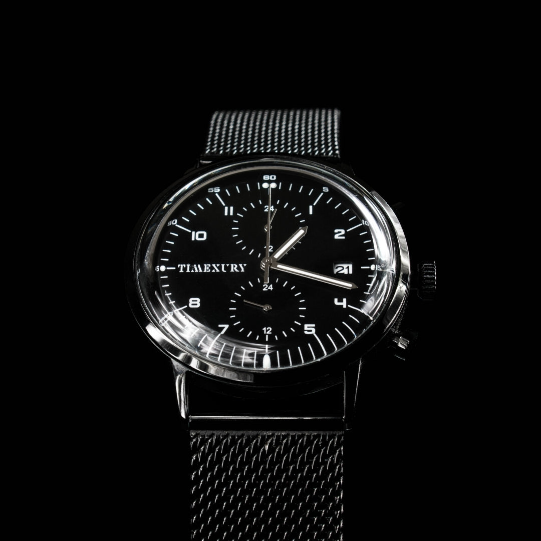 Black Chronos - TimexuryWatches