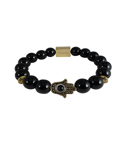BLACK ONYX & GOLD KHAMSA