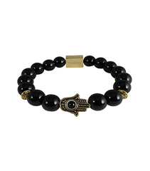 BLACK ONYX & GOLD KHAMSA - TimexuryWatches