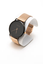 Black Wrist Watch For Men | Rose Gold