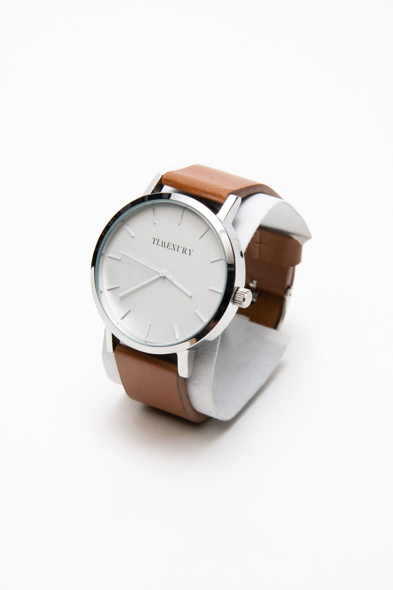 Kasual Silver & Brown - TimexuryWatches