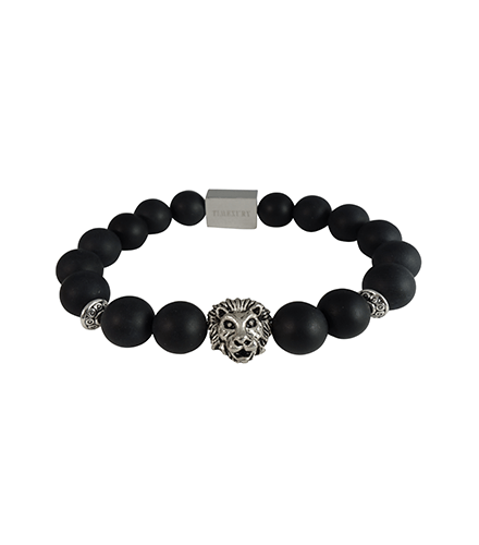 MATTE BLACK ONYX & SILVER LION - TimexuryWatches