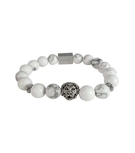 WHITE HOWLITE & SILVER LION - TimexuryWatches