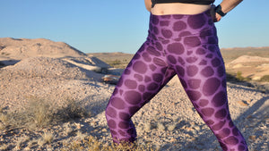 PLUM DINOSAUR LEGGINGS