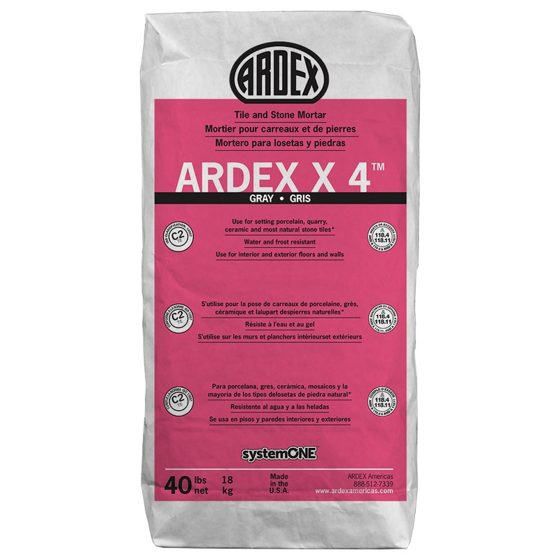 X 4™ Tile and Stone Mortar 40lb. (White)