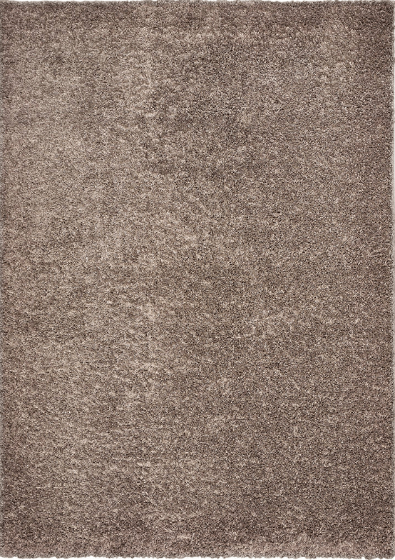 Bella Shag Java Rug Gray and Tan