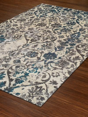 Modern Greys Teal MG22 Rug From Dalyn