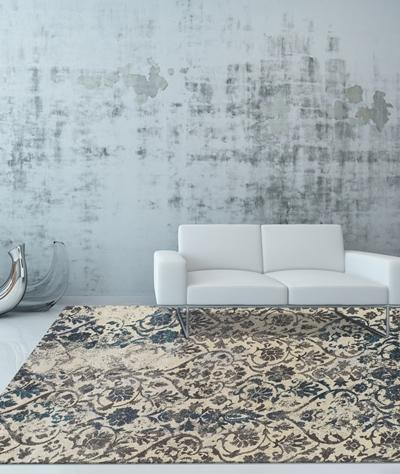 Modern Greys Teal MG22 Rug From Dalyn Living Room Scene