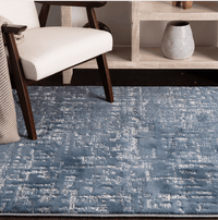 Century Gracie Mist Pewter Rug With Blue And Grey Accents