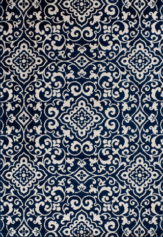 Terrace Tropic McBee Sapphire Snow Rug From Central Oriental