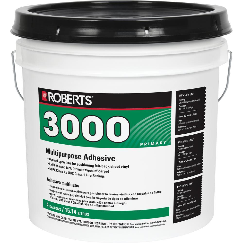 Roberts 3000 Multipurpose Adhesive For Flooring Projects, 4 Gallon