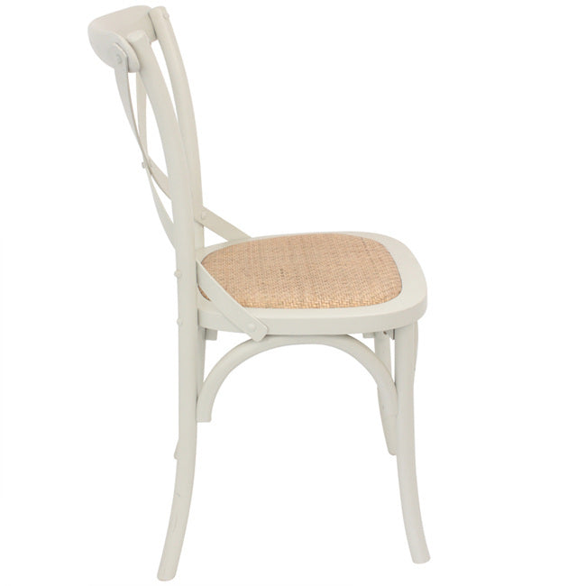 Crossback Dining Chair - Cream | FREE DELIVERY - OzChairs.com.au™