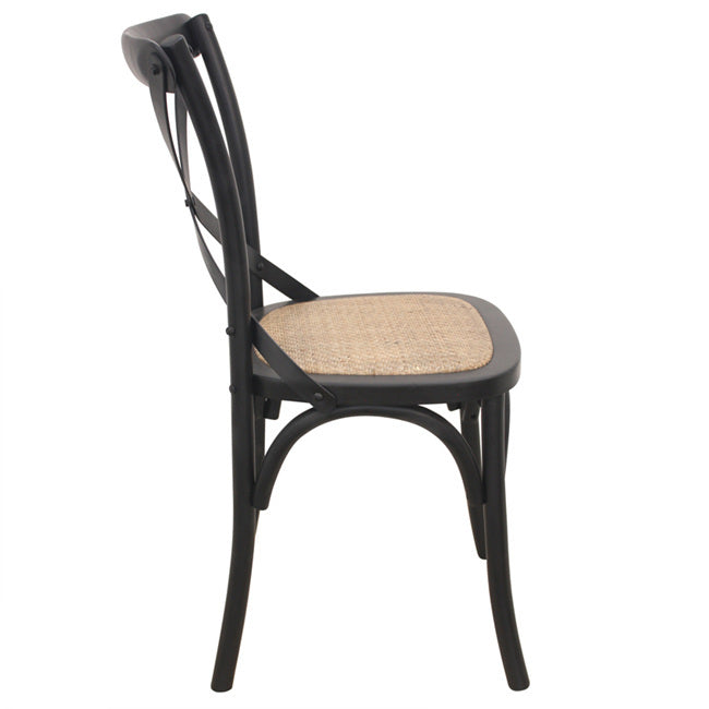 Crossback Dining Chair - Black | FREE DELIVERY - OzChairs.com.au™