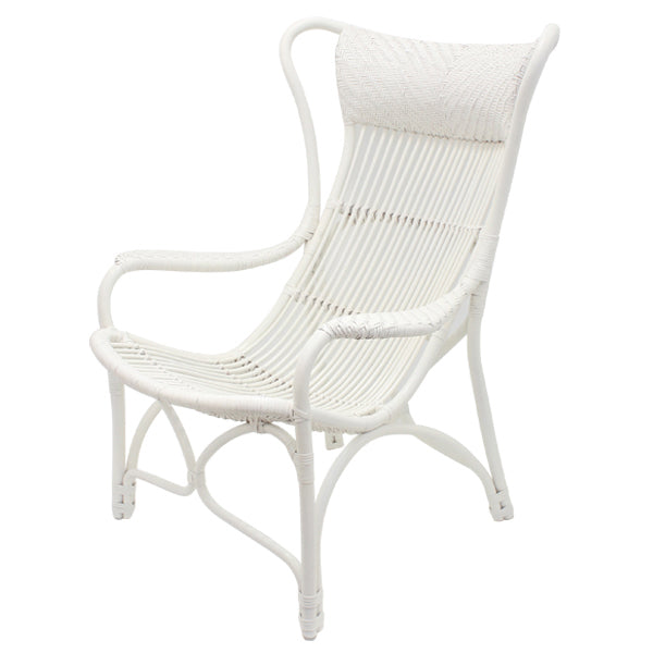 Bahamas Rattan Chair - White  | FREE DELIVERY - OzChairs.com.au™