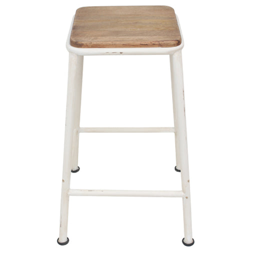 Vintage Industrial Barstool - Crème | FREE DELIVERY - OzChairs.com.au™