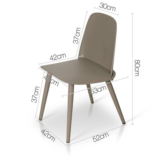 Set of 2 Nerd Replica Dining Chairs - Grey | FREE DELIVERY - OzChairs.com.au™