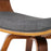 Set of 2 Wooden and Fabric Dining Chairs - Charcoal | FREE DELIVERY - OzChairs.com.au™