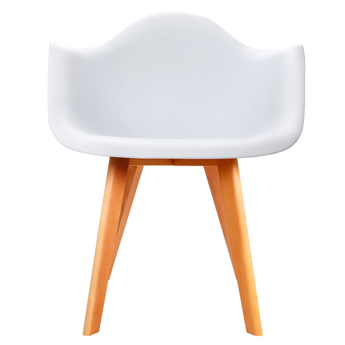 Set of 2 Replica Eames Dining Chairs - White | FREE DELIVERY - OzChairs.com.au™