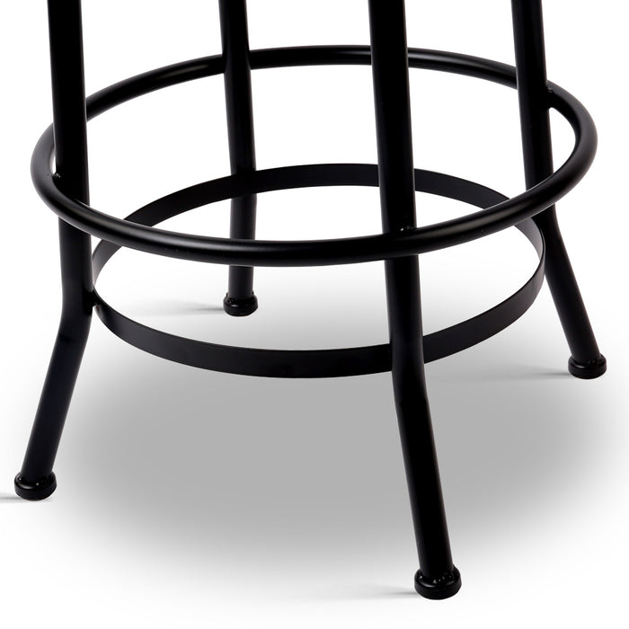 Round Industrial Style Bar Stool | FREE DELIVERY - OzChairs.com.au™