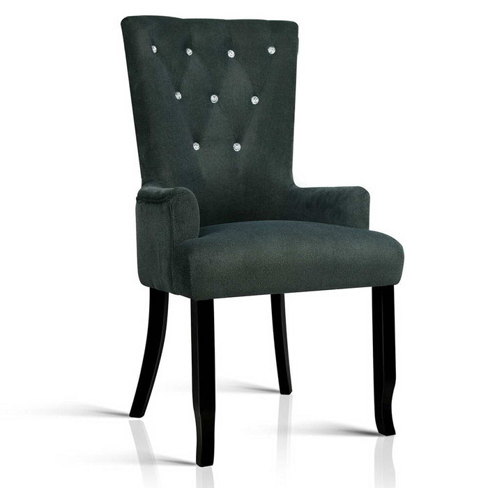 Modern French Provincial Dining Chair - Grey | FREE DELIVERY - OzChairs.com.au™