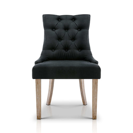 French Provincial Dining Chair - Black | FREE DELIVERY - OzChairs.com.au™