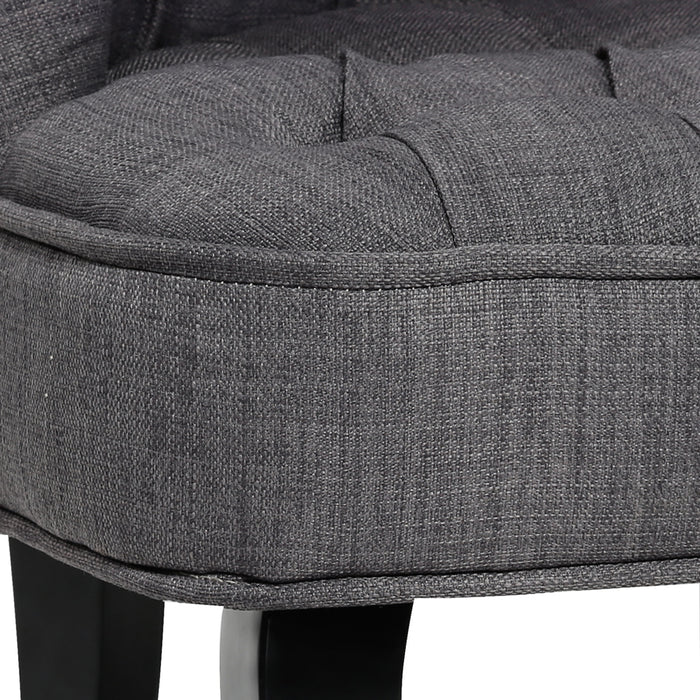 Kids Fabric Occasional Sofa Chair - Grey | FREE DELIVERY - OzChairs.com.au™