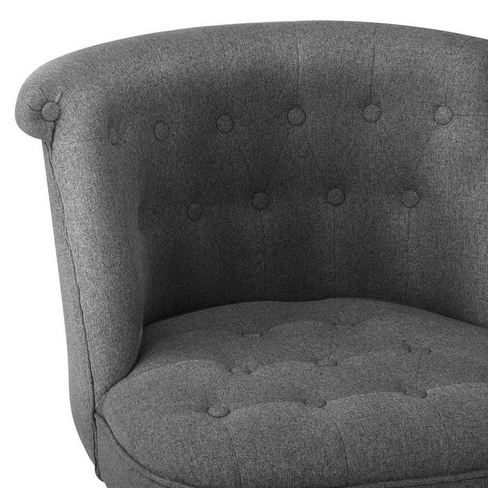 Linen Occasional Accent Chair - Grey | FREE DELIVERY - OzChairs.com.au™