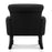 French Inspired Wing-Back Armchair - Classic Black | FREE DELIVERY - OzChairs.com.au™
