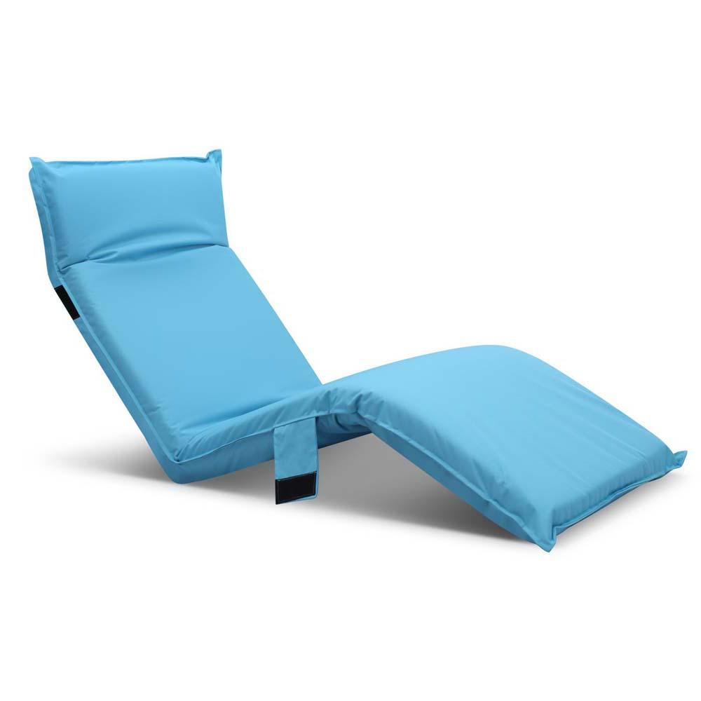 Adjustable Beach Sun Pool Lounger - Blue | FREE DELIVERY - OzChairs.com.au™