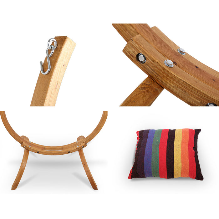 Garden Hammock with Wooden Hammock Stand | FREE DELIVERY - OzChairs.com.au™