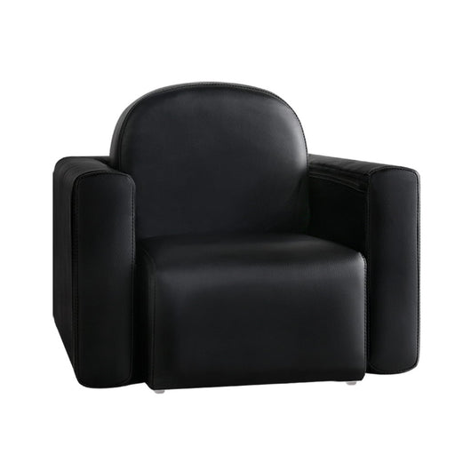Kids Covertible Armchair - Black | FREE DELIVERY - OzChairs.com.au™