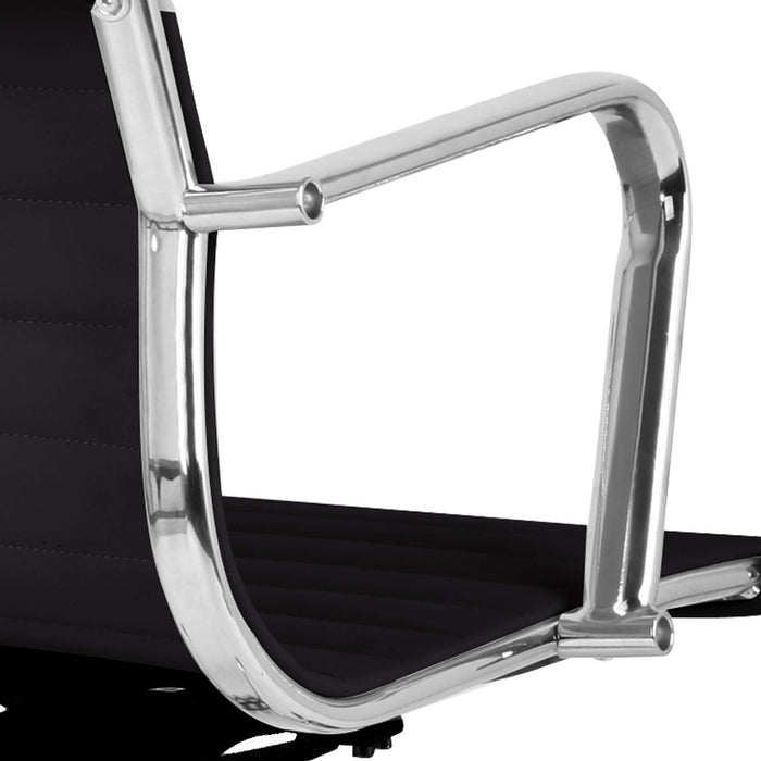 Eames Replica PU Leather High Back Executive Desk Chair - Black | FREE DELIVERY - OzChairs.com.au™