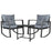 Contemporary Outdoor Rocking Chair Set - Black | FREE DELIVERY - OzChairs.com.au™